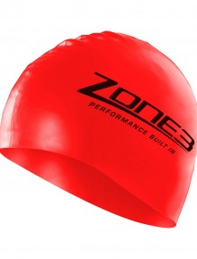 Zone3 Red Swim Cap-2