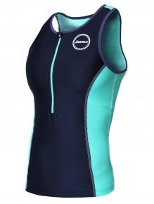Aquaflo+ - Women - Top _ Shorts Green Cutout (2)