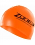 Zone3 Hi Vis Neon Orange Silicone Swim Cap (1)-2