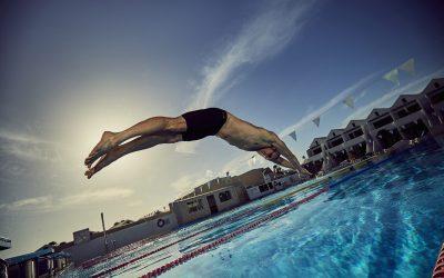 La equipación de Mark Foster para el entrenamiento de natación